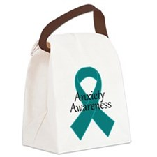 Anxiety Awareness Ribbon Canvas Lunch Bag