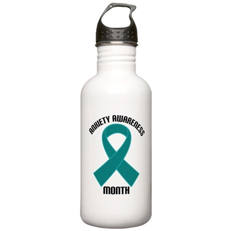 Anxiety Awareness Month Stainless Water Bottle 1.0