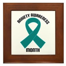 Anxiety Awareness Month Framed Tile