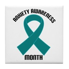 Anxiety Awareness Month Tile Coaster