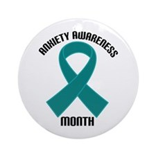 Anxiety Awareness Month Ornament (Round)