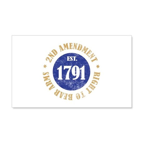 2nd Amendment Est. 1791 20x12 Wall Decal