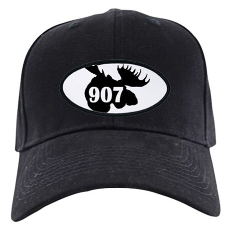 907 Moose Head Black Cap
