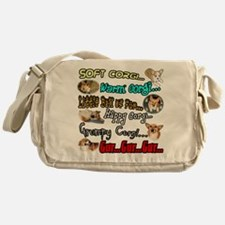 Soft Corgi Messenger Bag