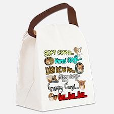 Soft Corgi Canvas Lunch Bag