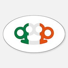 Brass knuckles Ireland flag Decal