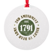 2nd Amendment Est. 1791 Ornament