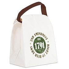 2nd Amendment Est. 1791 Canvas Lunch Bag