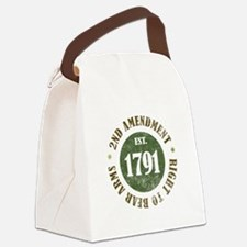 2nd Amendment Est. 1791 Canvas Lunch Bag