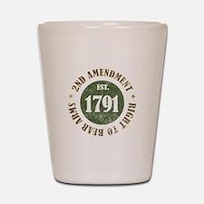 2nd Amendment Est. 1791 Shot Glass