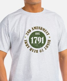 2nd Amendment Est. 1791 T-Shirt