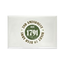 2nd Amendment Est. 1791 Rectangle Magnet