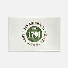2nd Amendment Est. 1791 Rectangle Magnet