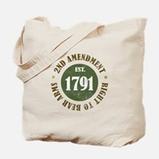 2nd Amendment Est. 1791 Tote Bag