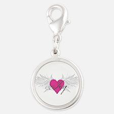 My Sweet Angel Joy Silver Round Charm