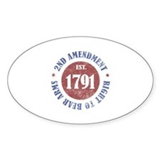 2nd Amendment Est. 1791 Decal