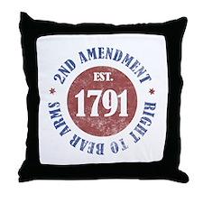2nd Amendment Est. 1791 Throw Pillow