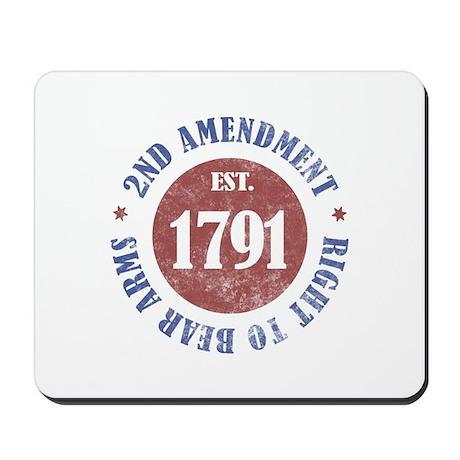 2nd Amendment Est. 1791 Mousepad