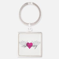 My Sweet Angel Journey Square Keychain