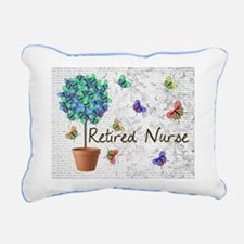 Retired Nurse Pillow 7 butterflies Rectangular Can