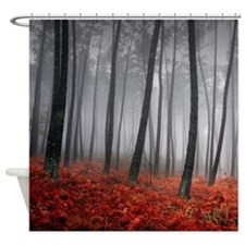 Black Forest Shower Curtain