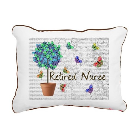 Retired Nurse Pillow 7 butterflies Rectangular Can