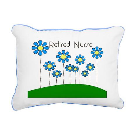Retired Nurse Pillow 5 Rectangular Canvas Pillow