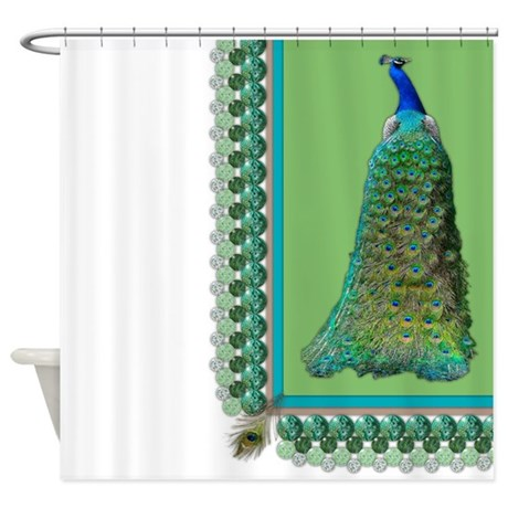 Pop Peacock Shower Curtain By Cerridwenscuriosities