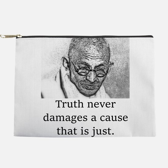 Truth Never Damages - Mahatma Gandhi Makeup Pouch