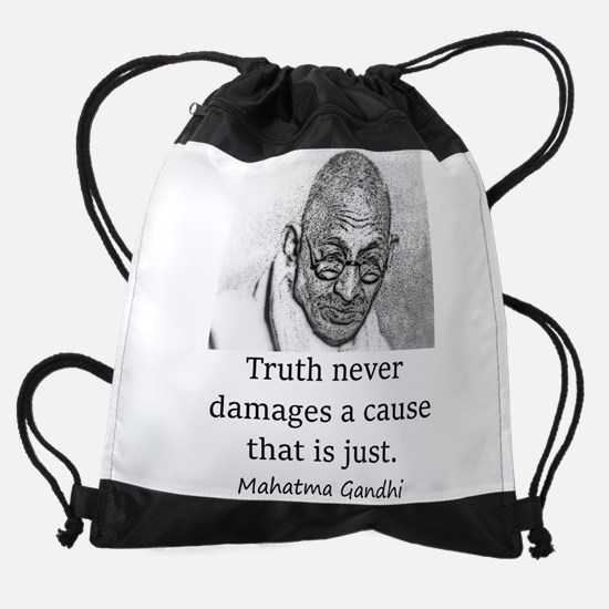 Truth Never Damages - Mahatma Gandhi Drawstring Ba