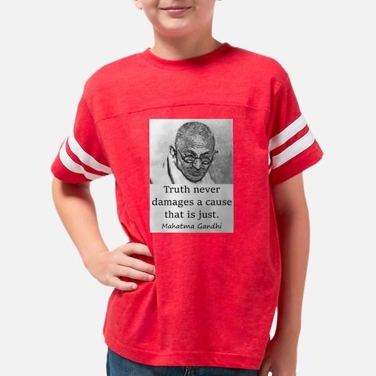 Truth Never Damages - Mahatma Gandhi Youth Footbal