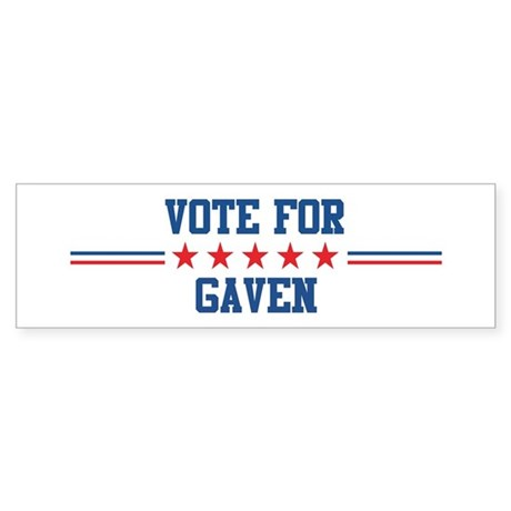 Vote for GAVEN Bumper Sticker