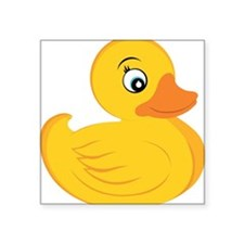 "Rubber Ducky Square Sticker 3"" x 3"""