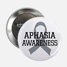 "Aphasia Awareness Gray Ribbon 2.25"" Button"