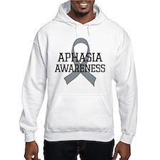 Aphasia Awareness Gray Ribbon Jumper Hoody