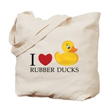 Love Rubber Ducks Tote Bag