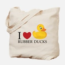 Love Rubber Ducks Tote Bag