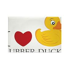 Love Rubber Ducks Rectangle Magnet