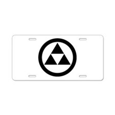 Three scales in circle Aluminum License Plate