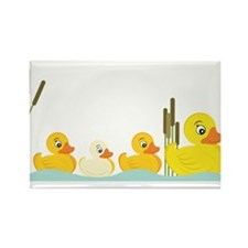 Ducky Family Rectangle Magnet