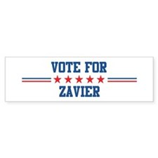 Vote for ZAVIER Bumper Bumper Sticker
