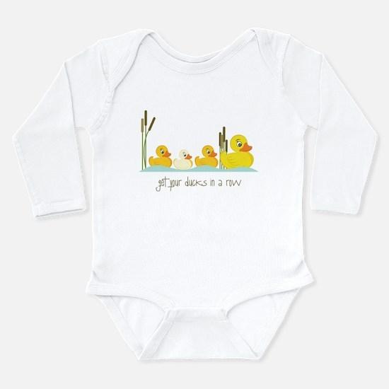 In A Row Long Sleeve Infant Bodysuit