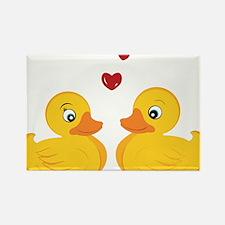 Love Ducks Rectangle Magnet