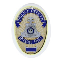 Riverside Police Officer Ornament (Oval)