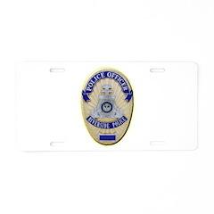 Riverside Police Officer Aluminum License Plate