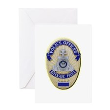 Riverside Police Officer Greeting Card