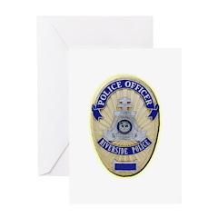 Riverside Police Officer Greeting Card