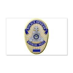 Riverside Police Officer Wall Decal