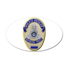 Riverside Police Officer Decal Wall Sticker