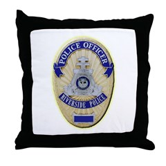 Riverside Police Officer Throw Pillow